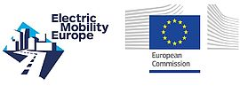 Electic Mobility Europe and European Comission logo